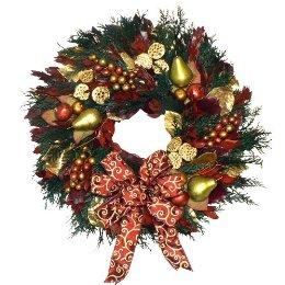 Bloggabbyriches haciendo coronas navide as for Como hacer una corona de navidad para la puerta
