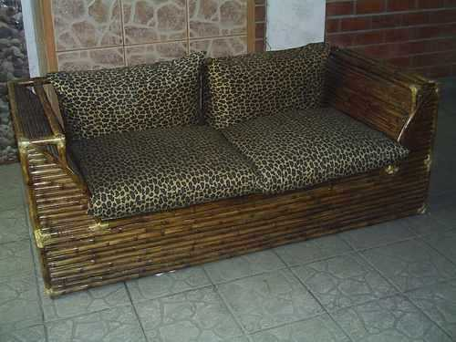Muebles de bamb para terraza incluye fundas de protecci n - Muebles de bambu ...