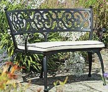 Bancas para tu jardin cuidado de plantas for Bancos de hierro para jardin