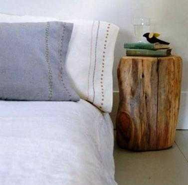 mesa noche tronco