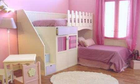Decoraci n de dormitorios infantiles con estilos de - Dormitorios infantiles para dos ...