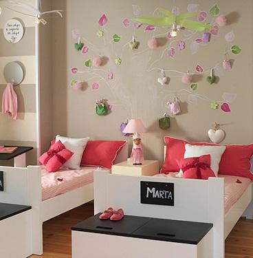 las paredes de la habitacin infantil